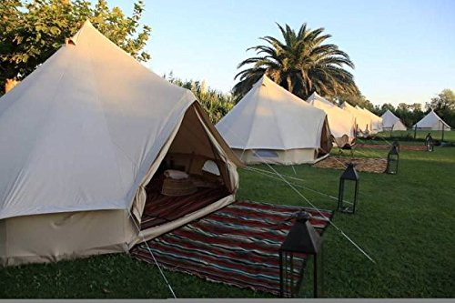 CanvasCamp Sibley 500 Ultimate Pro – 100% Cotton Canvas Bell Tent for Camping or Glamping