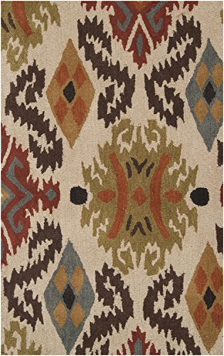 Diva At Home 3.25' x 5.25' Aquilah Iron Ore and Burnt Sienna Wool Area Throw Rug (Rug Wool Burnt Sienna)