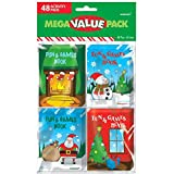 amscan Fun Christmas Notepads, Mega Value Pack, 48 Ct. | Party Favor