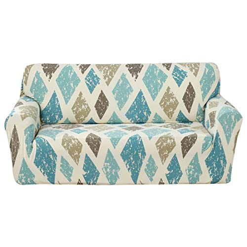 FORCHEER Stretch Sofa Slipcover Printed Plaid Pattern Couch Cover Polyester Spandex Fabric Furniture Pet Protector for Living Room(Loveseat,#Pattern Floral 16)
