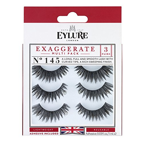 51GZqpmJflL Eylure Exaggerate Eyelash Multipack, 3 Count