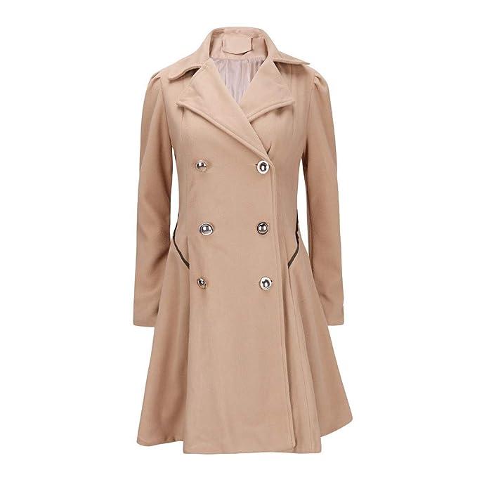 983bed017 Linlink Abrigo de Mujer Temporada De OtoñO E Invierno La Moda Caliente Damas  Solapa Estilo Largo Parka Abrigo Chaqueta Outwear  Amazon.es  Ropa y  accesorios