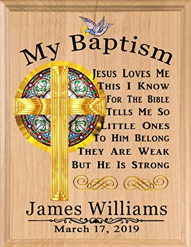 - Baptism Gift Blessing Personalized Christening Gifts - for Boys Baby Girls Babies Made in USA