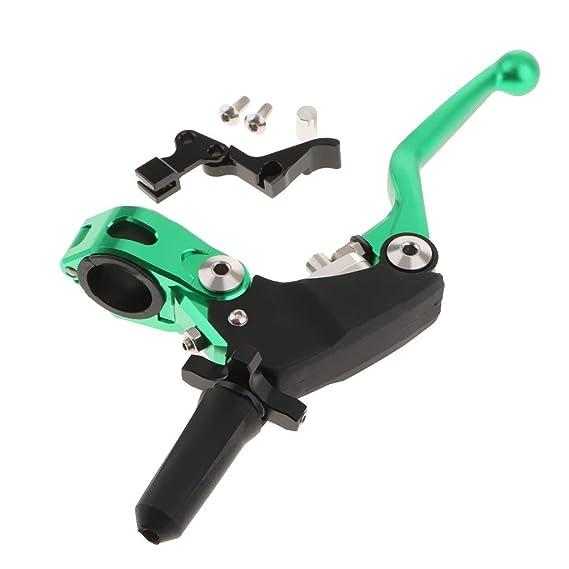 B Blesiya Palancas de Embrague de Freno Extensibles Plegables para Motocicleta CNC - Verde: Amazon.es: Coche y moto