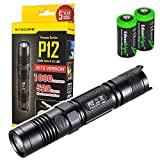 NITECORE P12 1000 Lumens high intensity CREE XM-L2 U2 LED long throw tactical flashlight with 2X EdisonBright CR123A Lithium Batteries