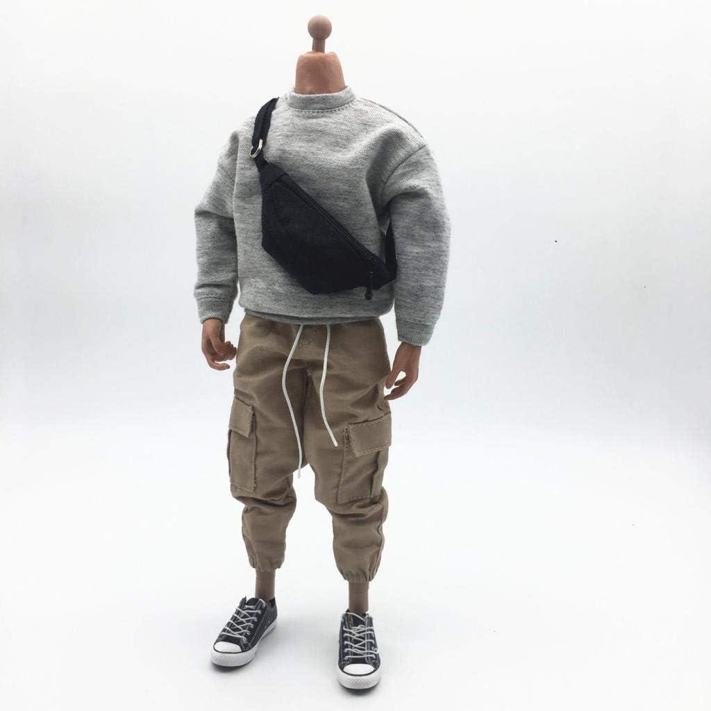 P Prettyia 1//6 Hommes Sweatshirt Pantalon Poitrine Sac pour Hot Toys 12  Action Figure