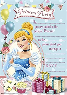 Amazon Disney Princess Party Invitations Pack Of 20 Kitchen Dining