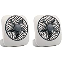 O2cool 5 Battery Operated Portable Fan  2 Count