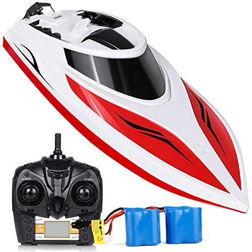 RC Boat High Speed 25+ MPH Remote Control Boat for Kids & Adults, INTEY Self Righting Double Waterproof Lake Pool Boat Toys for Boys or Girls ()
