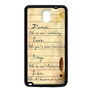 Happy Artistic Poetry notes Cell Phone Case for Samsung Galaxy Note3