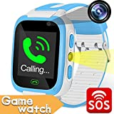 Kids Smart Watch Phone with Games Smartwatches SOS Tracker for Boys Girls Digital Wrist Watch Touch Screen with SIM Camera 1.54'' Alarm Timer Flashlight Anti-lost Outdoor Travel Cellphone Watch Bracelet Electronic Learning Toys