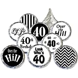 40th Birthday Party Favors - Over the Hill Party Collection, Set of 324 Stickers