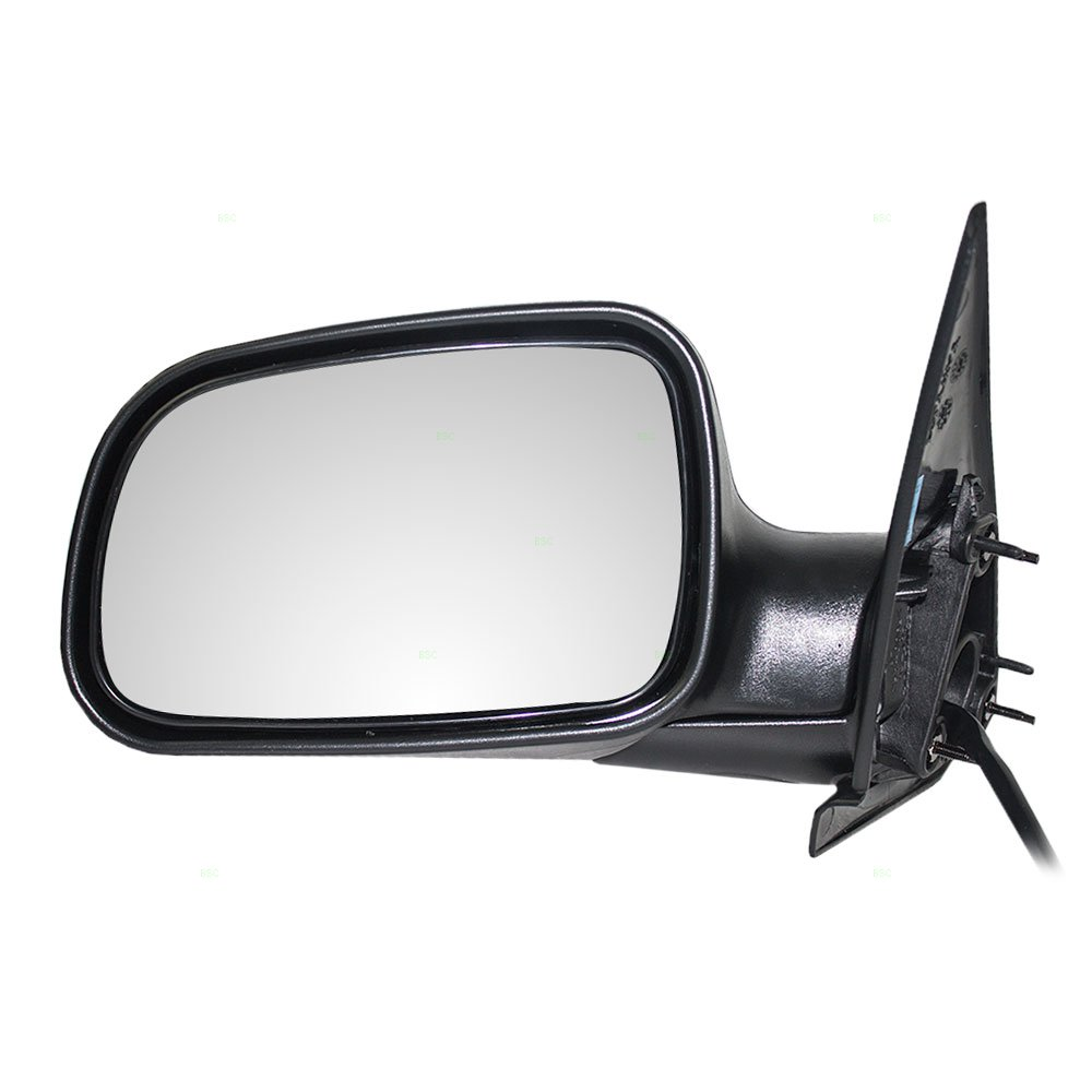 Drivers Power Side View Mirror Textured Replacement for Jeep SUV 55155447AF Auto Parts Avenue