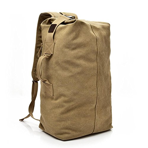 Outdoor Venture Backpack,Realdo Vintage Neutral Travel Canvas High Capacity Durable Satchel Hiking Daypack (Handling Board Paper)