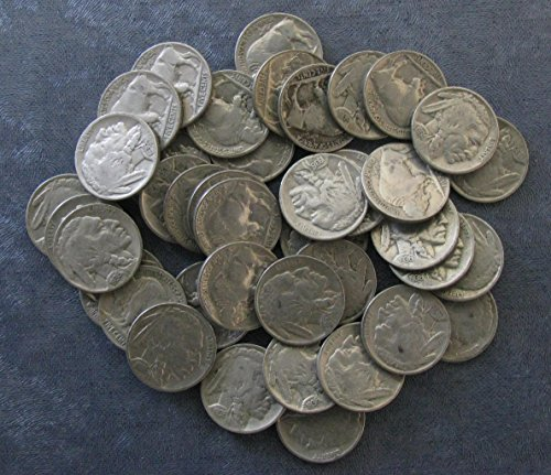 40 (Roll) 1936-P Buffalo Nickels Good or Better; Full dates