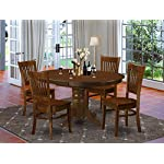 5 Pc set Kenley Dining Table with a Leaf and 4 Wood Kitchen Chairs