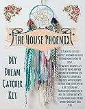Aqua Blue DIY Dream Catcher Craft Kit Birthday Gift. Make Your Own Dreamcatcher Project Nursery Room Decor.