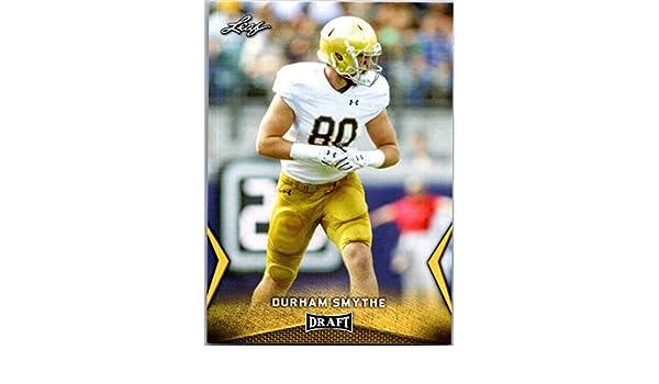 198fa605eba5d Amazon.com: 2018 Leaf Draft Gold #22 Durham Smythe Notre Dame ...