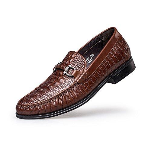 ZRO Men's Shoes Horse Bit Crocodile Print Slip-On Loafer Brown US 10 by ZRO