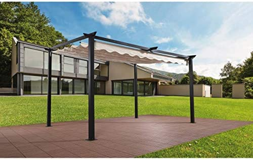 habitatetjardin Pergola en Aluminio Clara - 2.9 x 4 m - Beige: Amazon.es: Jardín