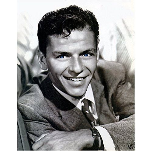 Frank Sinatra 'Old Blue Eyes' with Big Smile 8 x 10 Inch Photo