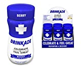 #7: DrinkAde Boost (6 pack of 3.4 oz bottles) - Previously Never Too Hungover with Caffeine, Double B-12 - Sugar Free, Gluten Free, Carb Free & Low Calorie. 100% Satisfaction Guaranteed.