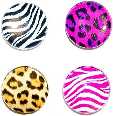 Assorted Animal Prints Inkology 858-3 Glamazon Magnets 4-Pack
