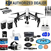 DJI Inspire 1 v2.0 Quadcopter with 4K Camera and 3-Axis Gimbal Full Accessory Basic Bundle Package Deal