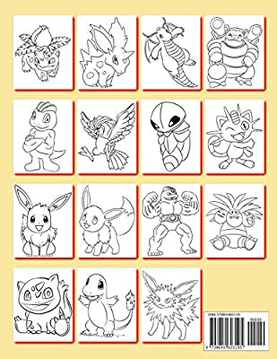 Pokemon Coloring Book 200 Pokemon Characters Pikachu Dragonite Charmander Eevee Squirtle Bulbasaur Coloring Pages Coloring Book For Kids Pokemon Coloring Pages Unofficial Publication Mike Brown 9798649603195 Amazon Com Au