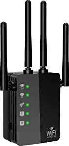 WiFi Extender, 1200Mbps WiFi Booster Range Extender Repeater 2.4GHz and 5GHz Full Coverage WiFi Extenders Signal Booster for Home, Office, Wireless Internet