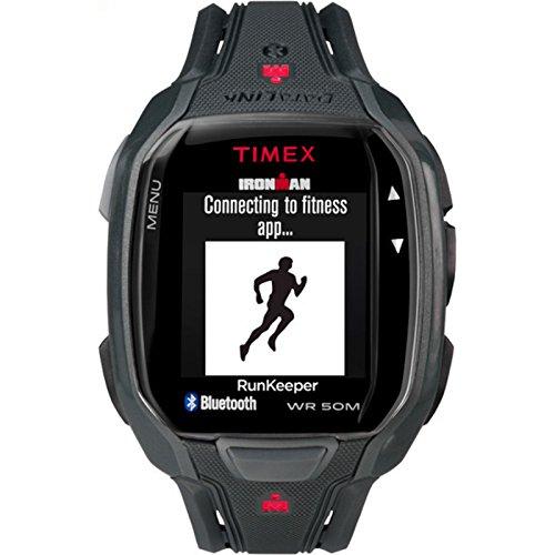 Timex Men's TW5K84500 Ironman Run x50+ Black/Red Resin Strap Watch (Resin Mens Stopwatch)