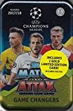 2017 2018 Topps UEFA Champions League Match Attax Card Game MEGA Collectors Tin with 60 Cards and a Bonus Gold Limited Edition Card