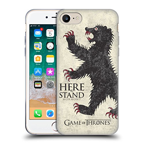 Price comparison product image Official HBO Game Of Thrones Mormont House Mottos Soft Gel Case for Apple iPhone 7 / iPhone 8