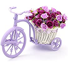 Louis Garden Nostalgic Bicycle Artificial Flower Decor Plant Stand (Purple)