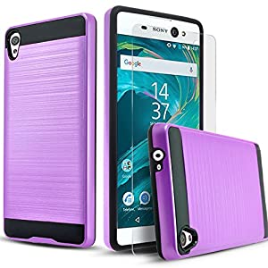 Sony Xperia XA Ultra Case, 2-Piece Style Hybrid Shockproof Hard Case Cover with [Premium Screen Protector] + Circle(TM) Stylus Touch Screen Pen