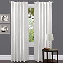 Triangle Home Fashions Lush Decor Venetian Curtain Panel, White