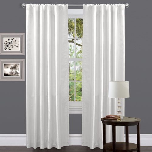 Lush Decor Venetian Curtain Panel, White, 54″ x 84″