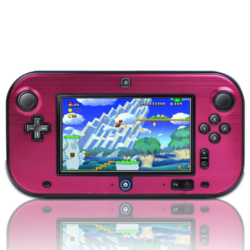 TNP Wii U Gamepad Case (Hot Pink) - Plastic + Aluminium Full Body Protective Snap-on Hard Shell Skin Case Cover for Nintendo Wii U Gamepad Remote Controller