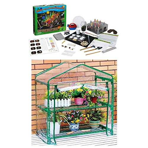 Kids Gardening Adventure With Two-tiered Classroom Greenhouse & Experiments Kit, Learning Science, Educational Tools, Kids Explore & Discover, Fun Activity, Easy Science Project For Kids by ( Learning Resource ) (Image #3)