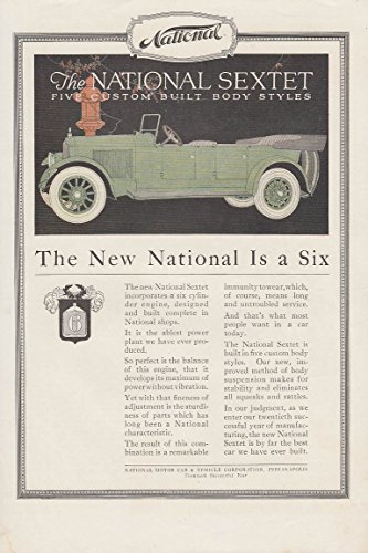 Djer Kiss - The National Sextet Touring Car / Djer-Kiss Face Pwoder ad 1919 Forkum art