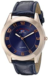 U.S. Polo Assn. Sport Men's US5219 Watch with Blue Leather Band