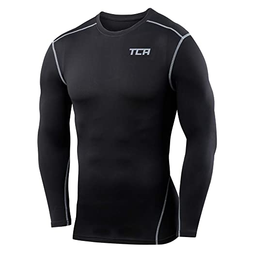 0f037a5f6 Boys TCA Pro Performance Compression Shirt Long Sleeve Base Layer Thermal  Top - Black, S