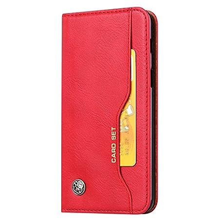 Noir Housse /à Rabat Flip PU Cuir Premium Etui Portefeuille Magn/étique avec Support Slots de Cartes Antichoc Case Cover Coque de Protection SunFay Coque pour Huawei P20 Pro,P20 Plus