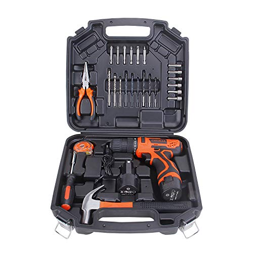 COLMAX Hand Combo Power Tool set 28 pcs, With 16.8V Cordless Drill and Household Repairing Mixed Tools, Daily Use Home Repairing Tool Kit