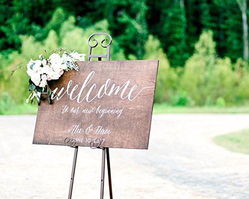 Wood Plaque Letrero de bienvenida de madera para boda ...