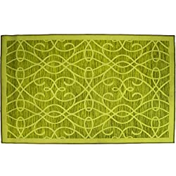 "Kashi Home Normandy Rug Runner, 20"" x 60"", Lime"
