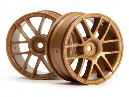 HPI 3798 Split 6 Wheel 26mm gold (Pair)