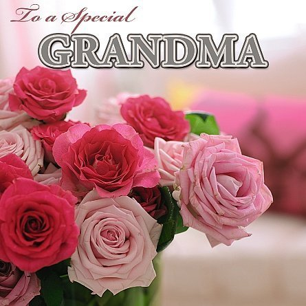 3D Holographic Beautiful Colorful bouquet of roses To a Special GRANDMA Mother's Day Greetings Card