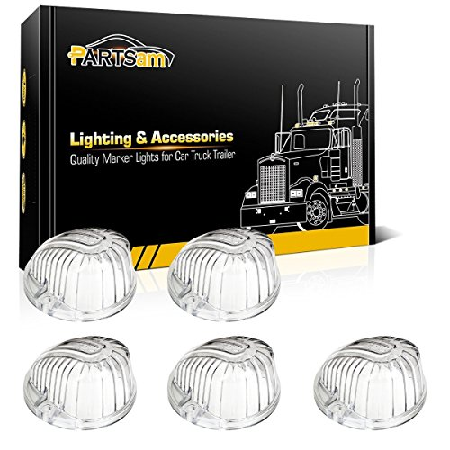 - Partsam 5X Clear Round Cab Marker Light Top Lamp 1313CL Covers Lens Compatible with Chevrolet/GMC C/K Series 1973-1987 Full Size Pickup Trucks