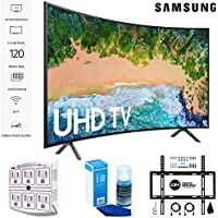 Samsung 65NU7300 65 NU7300 Smart 4K UHD TV 2018 with Wall Mount + Cleaning Kit (UN65NU7300)